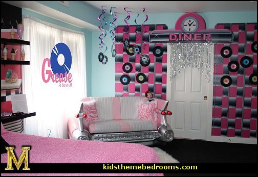50s bedroom ideas   50s theme decor   1950s retro decorating style   50s  diner. Decorating theme bedrooms   Maries Manor  50s bedroom ideas   50s