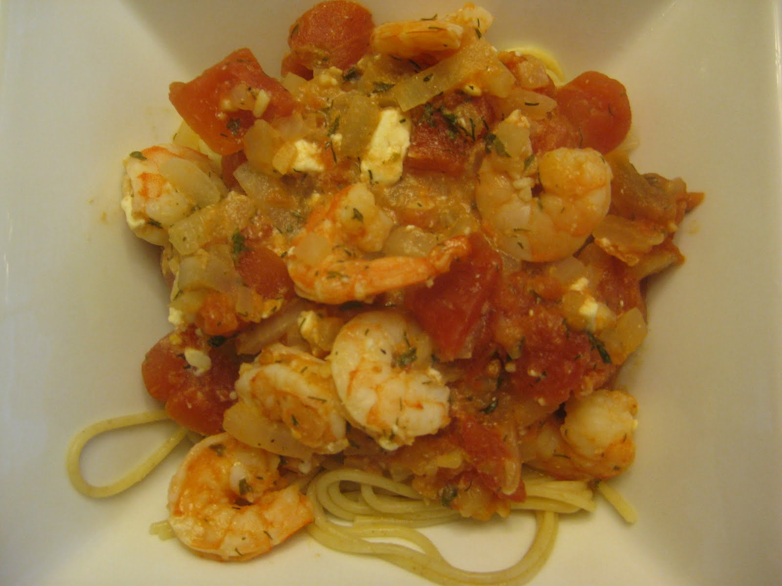 Making a Living: Eat: Baked Shrimp in Tomato Feta Sauce