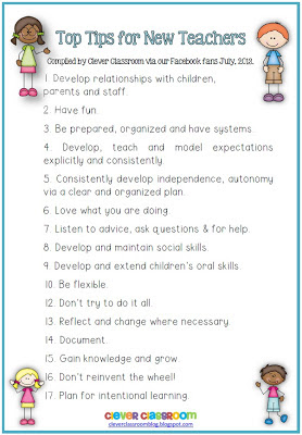 Image of Top Tips for New Teachers Free Printable file PDF