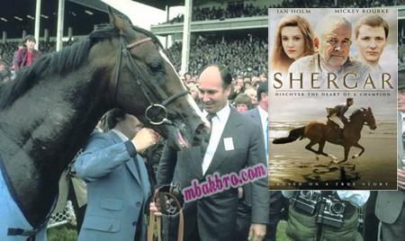 Shergar bersama Aga Khan dan poster filmnya