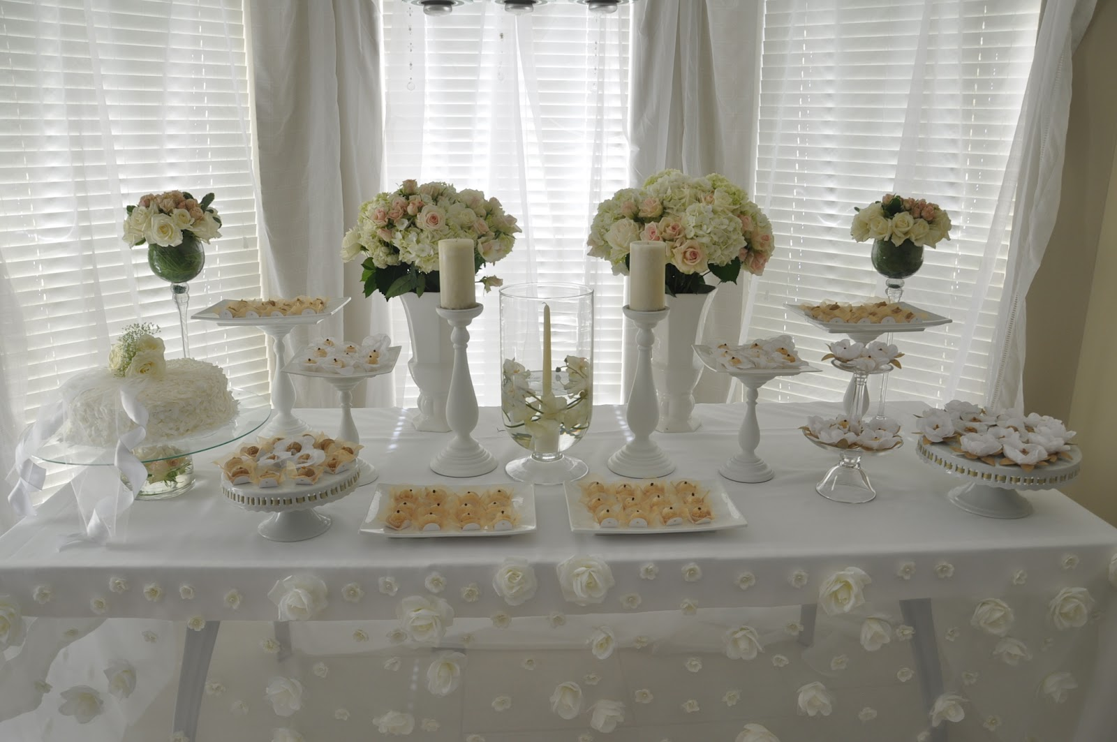 Blooming Table White Bridal Shower
