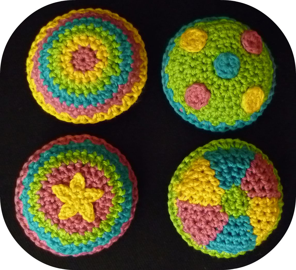 Crochet Bean Bag Tutorial : Stitch Story: Cirque Du Crochet Bean Bag Patterns!