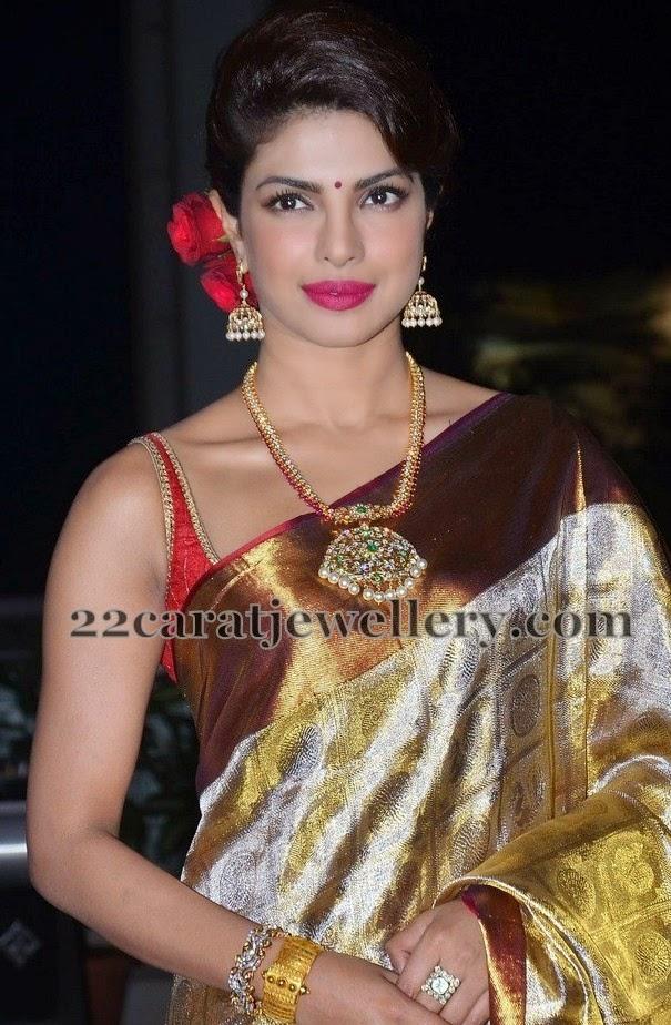 Priyanka Chopra Diamond Ruby Long Set Jewellery Designs