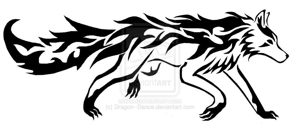 Lineart Wolf Tattoo : E tatuaggi piccola raccolta tribali