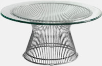Santana Modern Glass Coffee Table by Woodstock