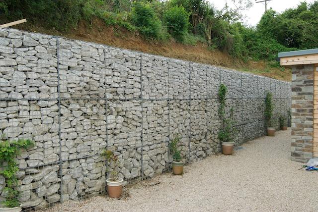 Gabion Retaining Wall : Devoran Metals Ltd: Great Gabions!
