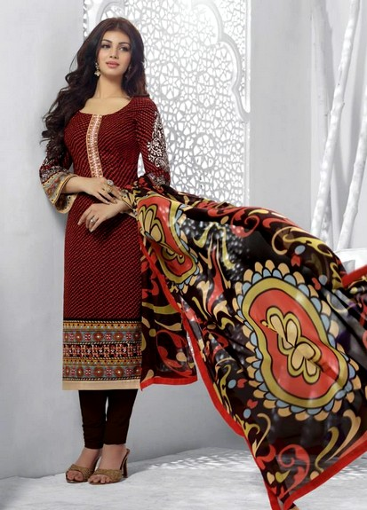 Maroon Printed Indian Casual Dresses