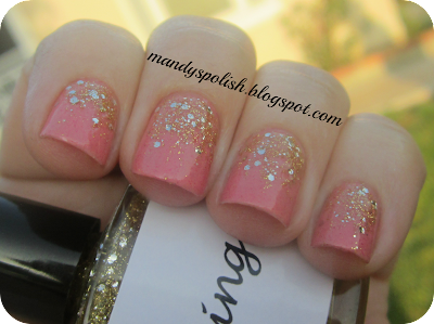 BadAss Polish Bling  Sassy Lacquer Tiger Lily Wears Pink