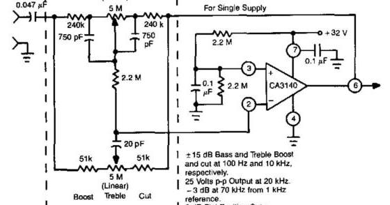 Baxandall Tone Control Audio Amplifier