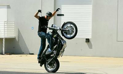 German Flat Black Novelty Motorcycle Helmet