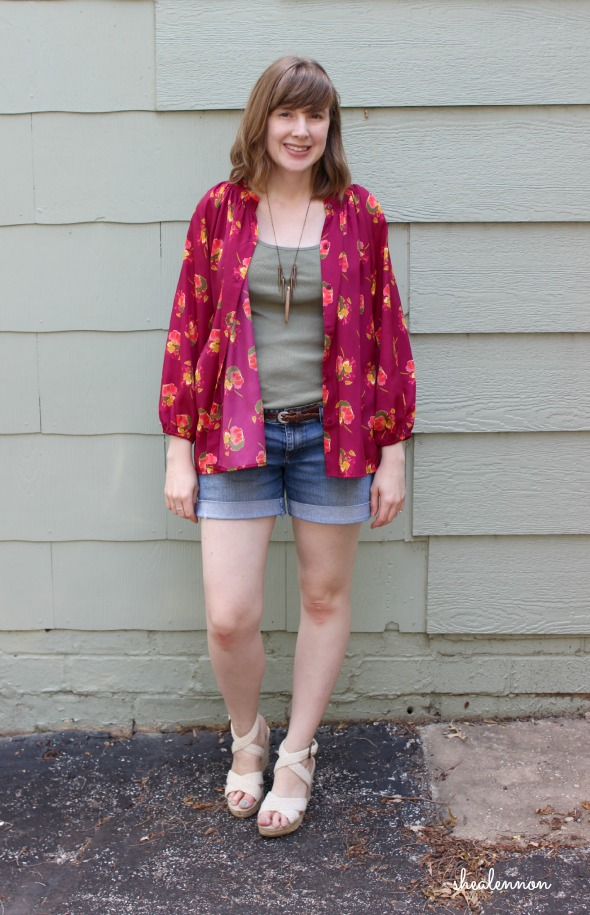 Styling a blouse as a kimono style jacket | www.shealennon.com