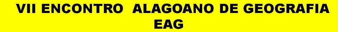 7 Encontro Alagoano de Geografia