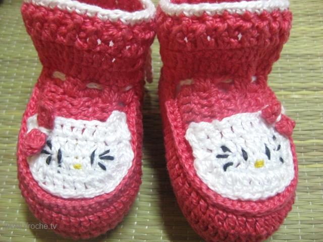 Croche: sapatinho de croche hello kitty passo a passo