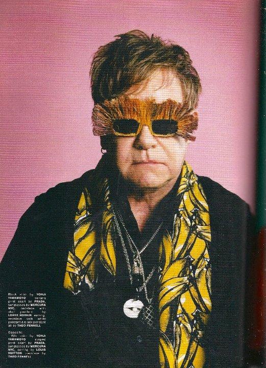 elton john glasses. Sir Elton John wears Mercura
