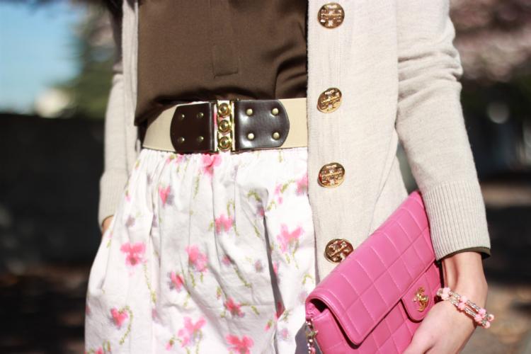 vince silk tory burch cashmere cardigan jcrew blossom skirt