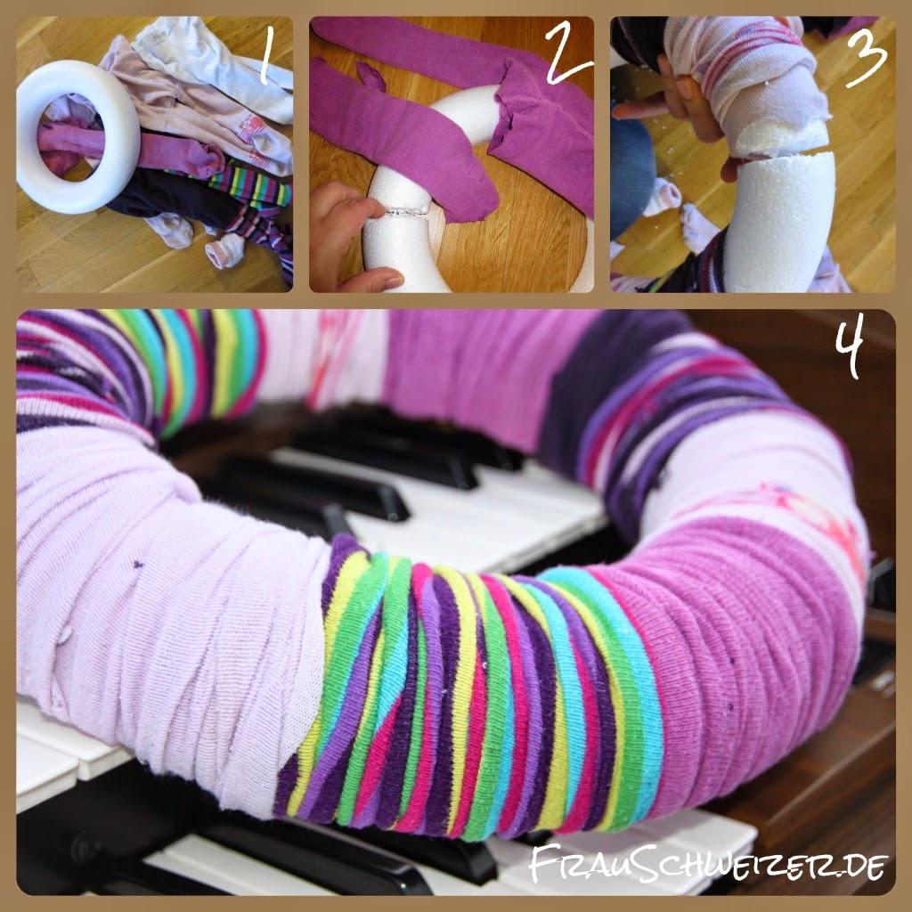 DIY: einen tollen einfachen Strumpfhosenkranz basteln 1