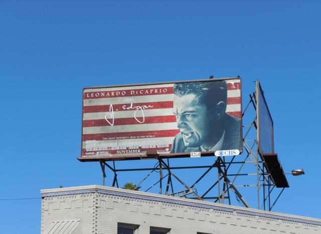 Leonardo DiCaprio J Edgar billboard