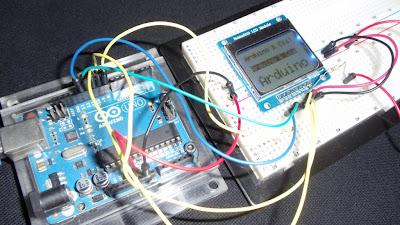 Circuito em funcionamento - Display Nokia 5110
