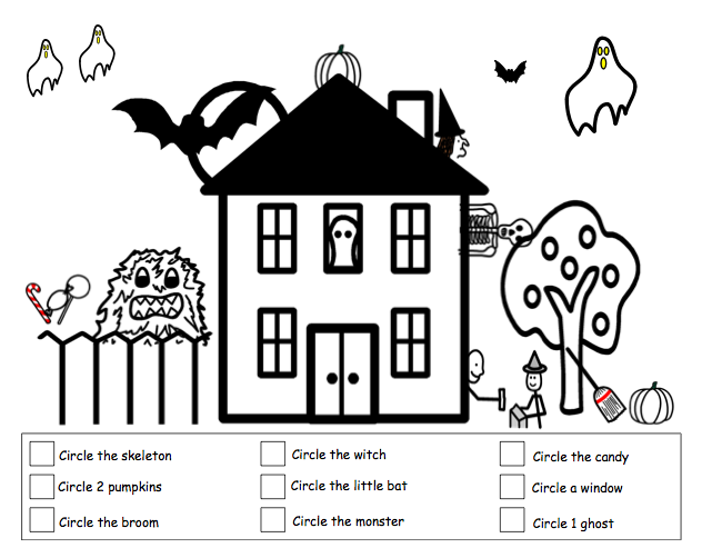 view template - Halloween Following Directions