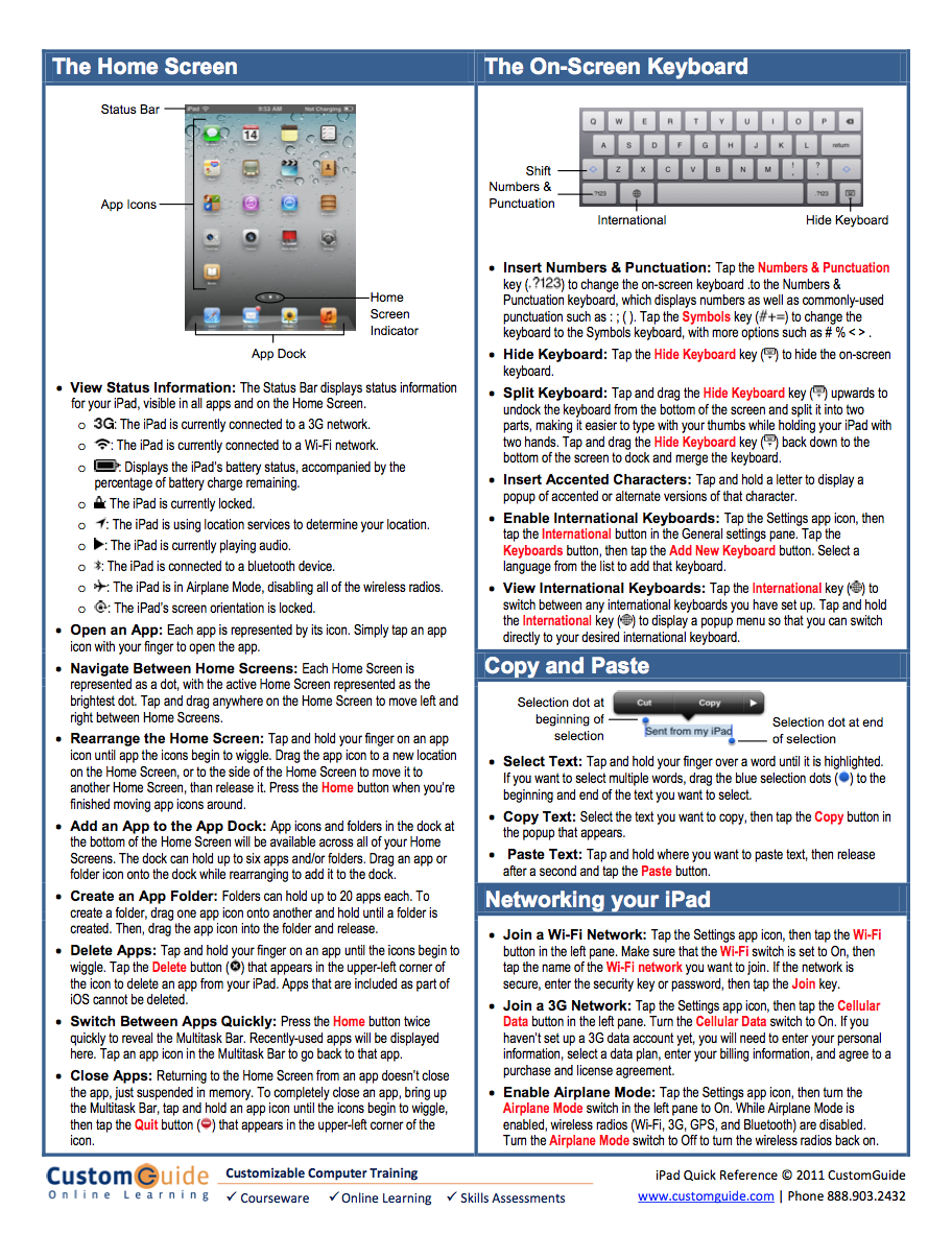 ipad quick reference guide free courtesy of custom guide rh teacherlinkyetc blogspot com Excel Quick Reference Guide Quick Reference Card Template