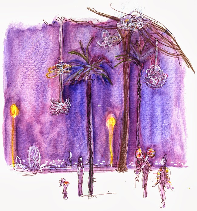 "Shiho Nakaza ""los angeles"" ""santa monica"" watercolor watercolour pen glow festival"