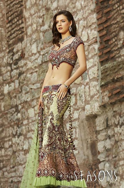 Westren Models in Indian Traditional Wear Looks Beautiful