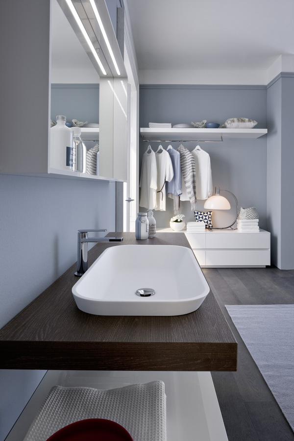 ambiente bagno, integrandosi con gli spazi living e la stanza da letto ...