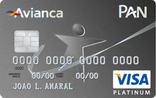 Cartão PAN Platinum Visa Avianca