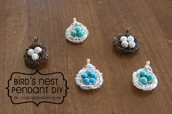 Living laughing and learning birds nest pendant tutorial aloadofball Choice Image