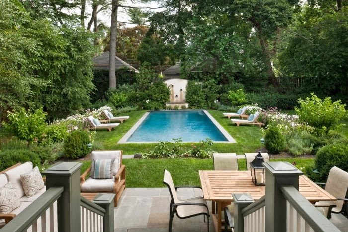 Classic outdoor pool ideas