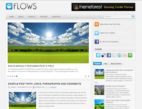 Flows Blogger Theme