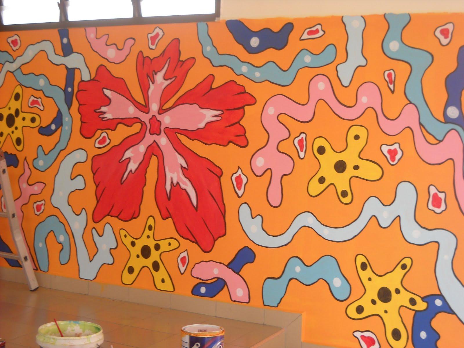 Pelukis mural shah alam corak batik for Mural kartun