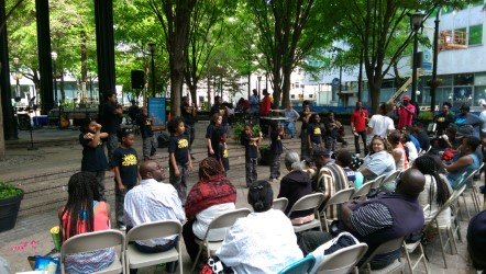 GLORIFIERS performing Downtown Atlanta
