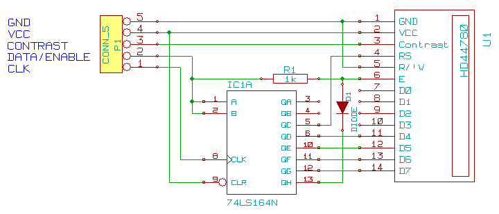 arduino led display how to connect