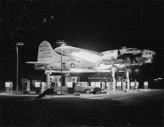 Art Lacey's Bomber Gas Station at Night