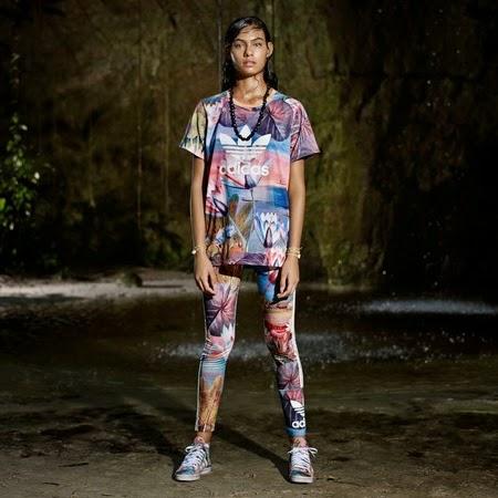 Farm e Adidas Originals terceira coleção t shirt e legging