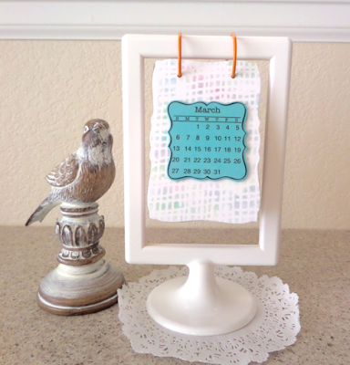 SRM Stickers Blog - 2016 Flip Calendar by Annette - #minicalendar #2016 #flipcalendar #die #gift