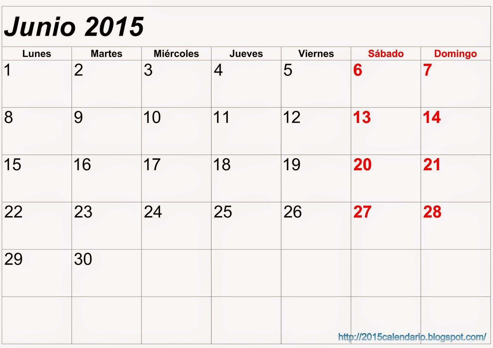 Calendario Abril 2015 Para Imprimir
