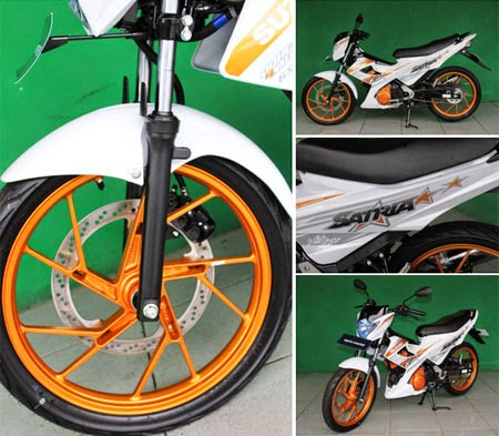 gambar motor Satria FU150 White Fighter
