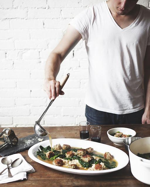minestra-maritata-italian-wedding-soup-with-turkey-meatballs-kale-and-broccoli-rabe