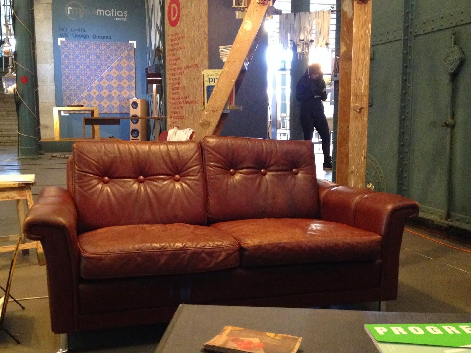 sofá, vintage, nórdico