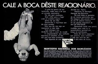 propaganda Montepio Nacional dos Bancários - 1971; 1971; os anos 70; propaganda na década de 70; Brazil in the 70s, história anos 70; Oswaldo Hernandez;