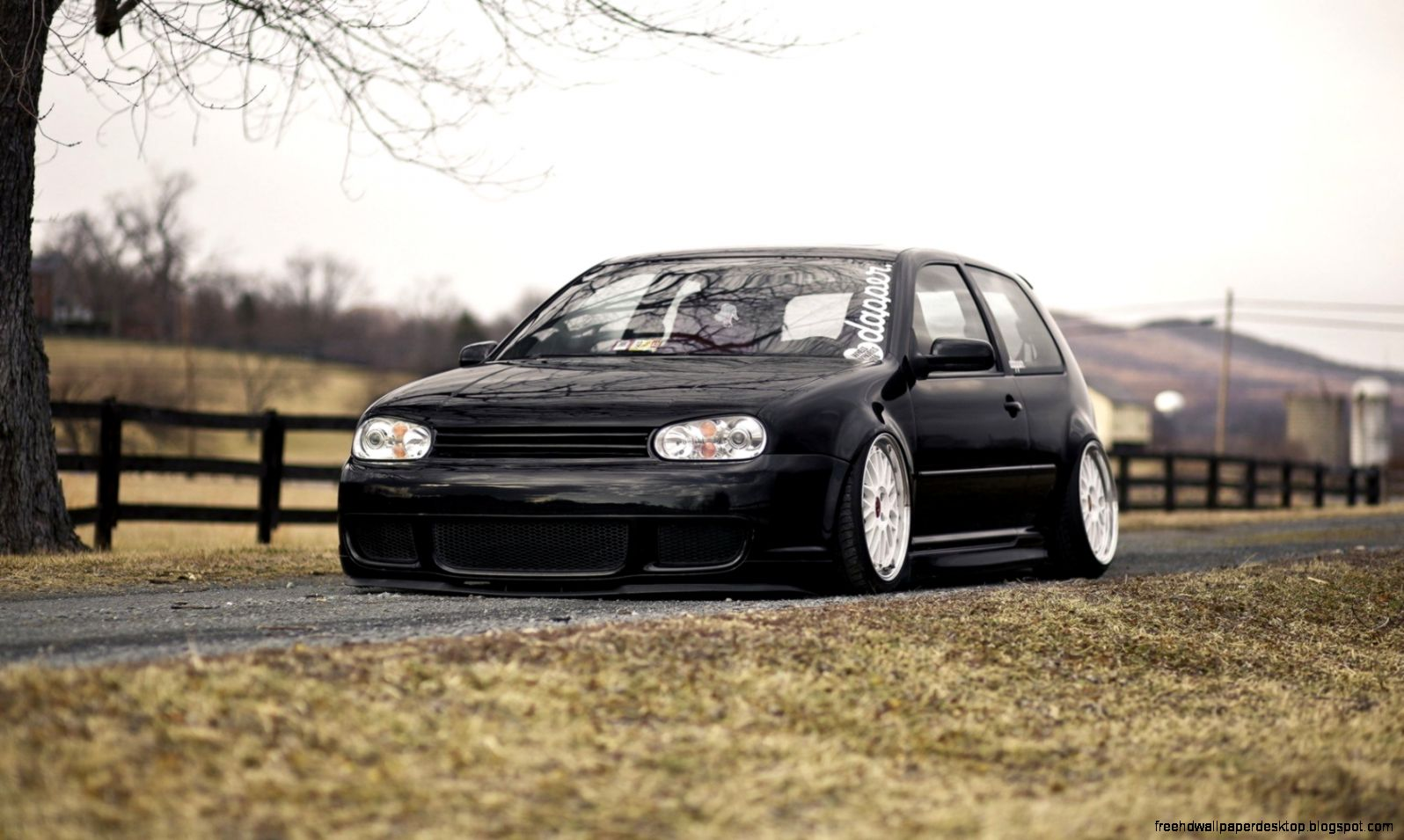 Volkswagen golf black tuning photo hd wallpaper free high definition wallpapers - Golf 4 wallpaper ...