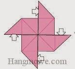Bước 9: Từ vị trí mũi tên mở cách cánh của chóng chóng cho nó phồng lên.