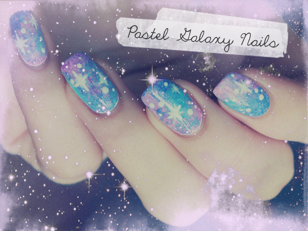 Royal Milk Tea: Pastel Galaxy Nails