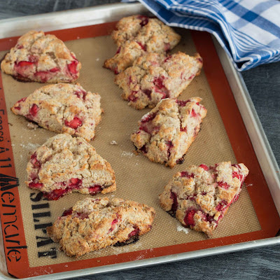 Kid Cultivation: Strawberry Ricotta Scones