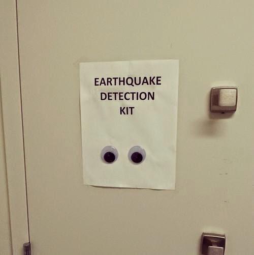 wobbly eyes on a card earthquake