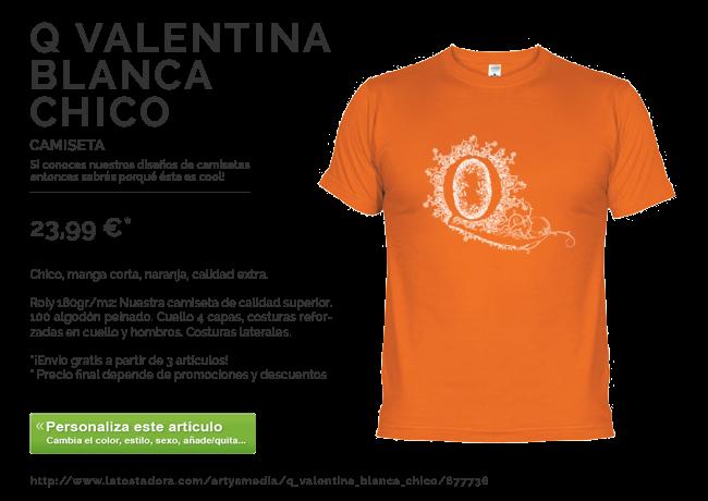 Camiseta Q Valentina Blanca Chico