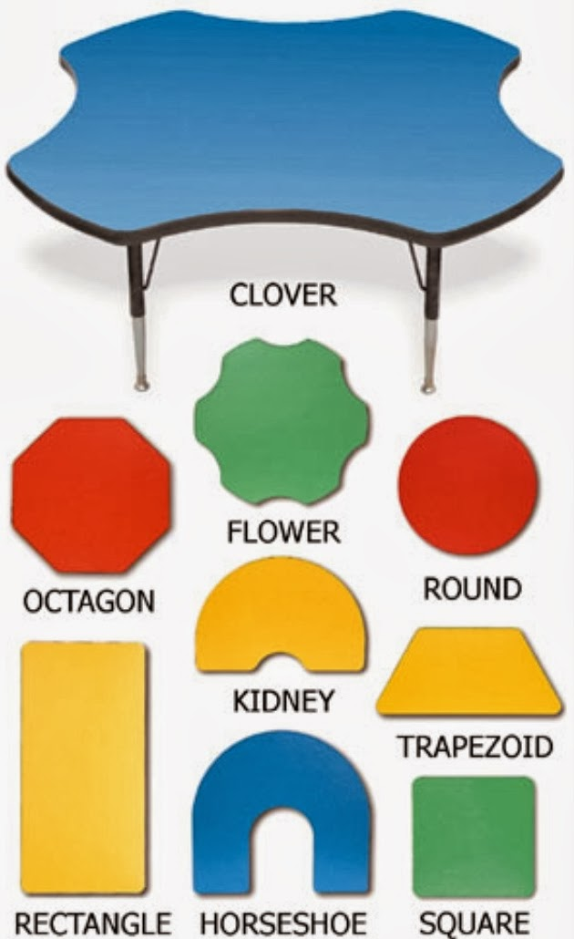 I Know Our Lower Elementary Teachers Generally Have Horseshoe Tables And  Some Flower Tables, While Our Upper Elementary Teachers Generally Use Kidney  Shaped ...