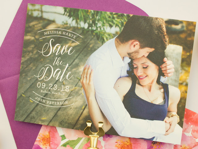 save the date cards with watercolor flowers